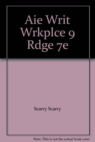 Aie Writ Wrkplce 9 Rdge 7e