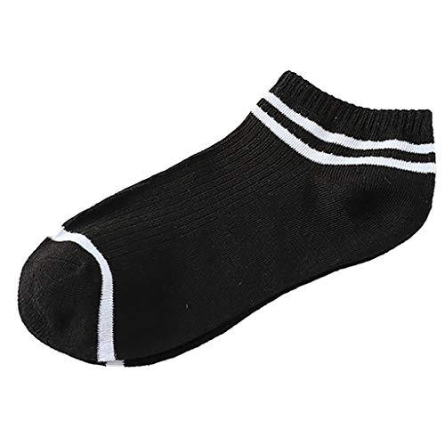 (Tronet Athletic Socks/5Pairs Unisex Stripe Comfortable Cotton Sock Slippers Short Ankle Socks)