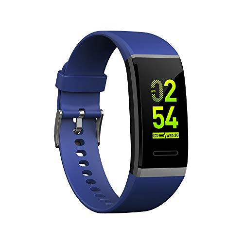 Kariwell V11 Sport Smart Watch - Camera/Stopwatch/Pedometers/Calories/Sleep Monitoring / IP67 Waterproof 0.96 Inch OLED Touch Screen Bracelet for iPhone Kari- 138 (Blue)