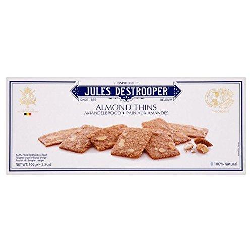 Jules Destrooper Almond Thins (100g) by Jules Destrooper