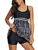2 Piece Plus Szie Bathing Suit for Women Tankini Top and Shorts Swimsuits