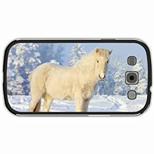New Style Customized Back Cover Case For Samsung Galaxy S3 Hardshell Case, Black Back Cover Design Horse Personalized Unique Case For Samsung S3