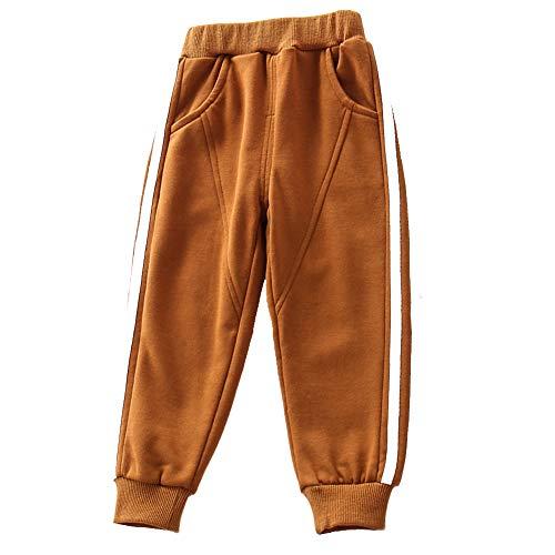 Kid Toddler Boys Cotton Jersey Harem Pants Baby Elastic Trousers Soft Active Sweatpants Outdoor Bottoms JiaoTang 120 Brown ()