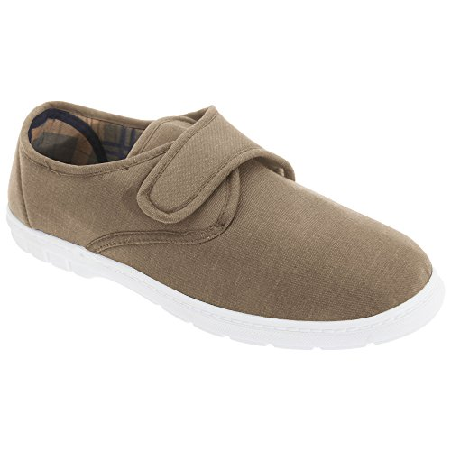 Gordini Hombres Touch Fastening Casual Textile Zapatos Taupe
