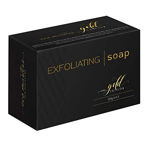 Eco Masters Jabón Exfoliante – Purifica y Limpia Profundamente la Piel – Contiene Polvo de Almendra Dulce – Sin…