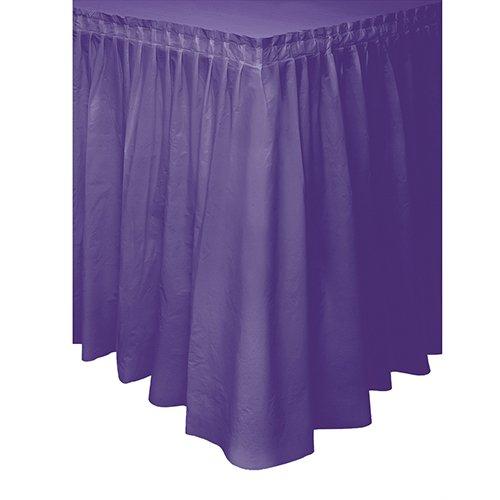Purple Plastic Table Skirt 14ft