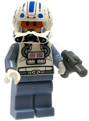 SW1-B4 LEGO Star Wars LOOSE Clone Wars Mini Figure Clone Pilot Captain Jag with Blaster Pistol