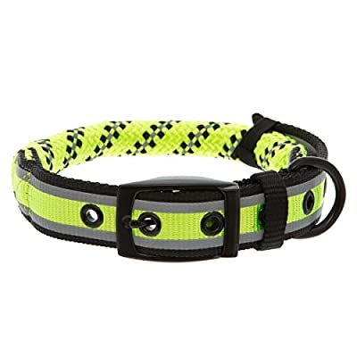 KONG Reflective Rope Dog Collar L/XL Lime Green