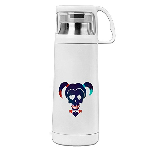 ZZYY Fashion Suicide Squad Harley Quinn Travel Tumbler Stainless Steel & ABS Vacuum Insulated Handled Thermos (Babe Ruth Costumes For Kids)