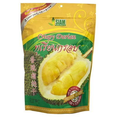 Siam Crispy Durian Premium Quality & No Oil 100g. X 1 Sachet (Oil Topping)