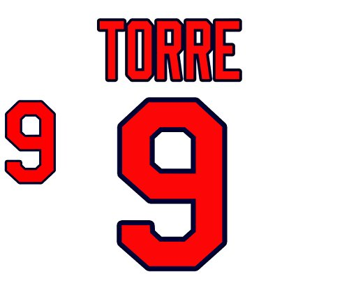 Joe Torre St. Louis Cardinals Jersey Number Kit, Authentic Home Jersey Any Name or Number Available