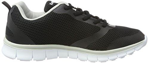 5006 dk Donna Nero Sneaker march jet Kangaroos K Silver Black SA1OzzqTn