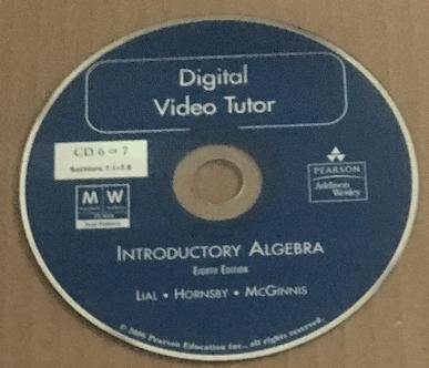 Digital Video Tutor Introductory Algebra Eighth Edition CD 6 Of 7 Sections 7.1 - 7.8