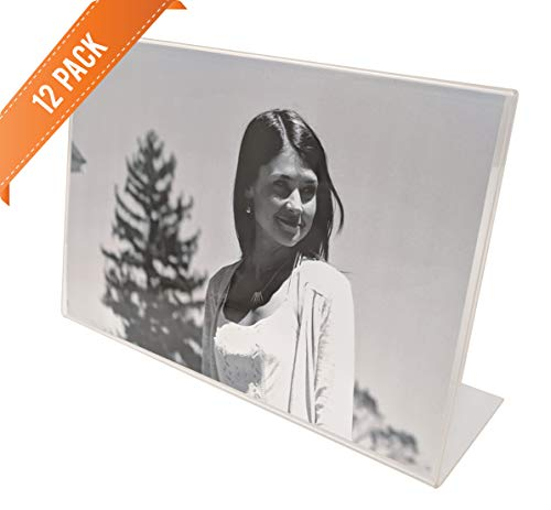 Photo Booth Nook 12 Pack of 6 x4 Acrylic Picture Frames, Sign Holders