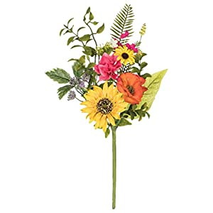 "Artificial Sunflower, Primrose, and Daisy Pick, 17"" 19"