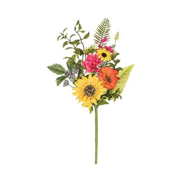 Artificial Sunflower, Primrose, and Daisy Pick, 17″