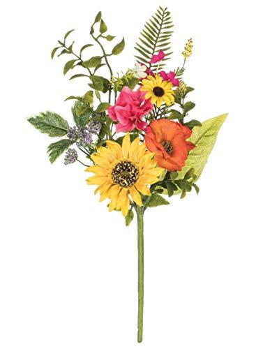 "Artificial Sunflower, Primrose, and Daisy Pick, 17"""