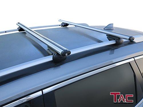 TAC Car Wagon Aluminum Locking Roof Top Rail Rack Anti-Theft Cross Bars (45″ Cross Bar)