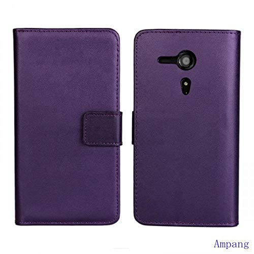 (Premium Leather Cover for Sony Xperia SP Case C5302 C5303 C5306 with Card Slot Good Leather Cover for Sony Xperia SP M35h Case)