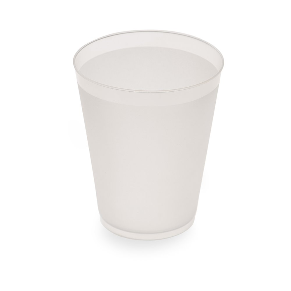 Durable, Flexible 12 oz BPA Free Plastic Cup, Drinking Cup, Soda Cup - Recyclable Polypropylene (PP) - Opaque / Frosted - 500ct Box - Restaurantware by Restaurantware (Image #1)