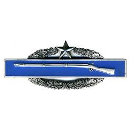 Army Combat Infantry Badge 2nd Award Oxidized Finish - Regulation Award Combat Infantry Badge