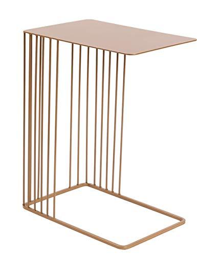 AKMQBZ Original Design Nordic U-Shaped Metal Flower Stand Modern Living Room Sofa Creative Wrought Iron Side Coffee Table, No Need to Punch (Color : Metallic)