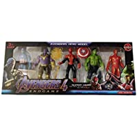 TENDERFEET Avemgers 5 Action Hero Collection Toys Captaim America, Thamos, Spiber Man, HuIk and Iromman Height - 4.5 inches