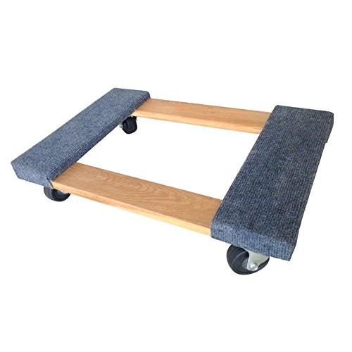 RIGHT MOVER HWD-0503 Hardwood Dolly Furniture with Carpet End, 900 lbs Capacity - Carpet End Dolly