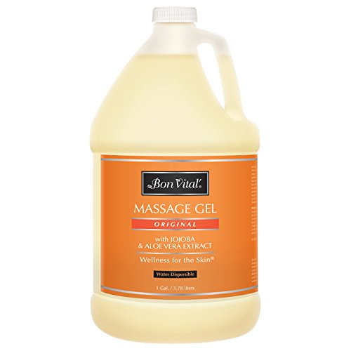 Original Massage - Bon Vital' Original Massage Gel for a Versatile Massage Foundation to Relax Sore Muscles and Repair Dry Skin, For Massage Therapists Who Want Superior Glide & Gentle Friction for Clients, 1 Gal Bottle
