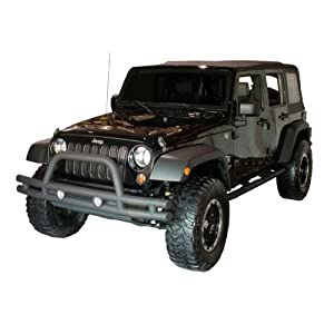 Jeep Wrangler JK Rugged Ridge Textured Black Front Tube Bumper with Grill Guard