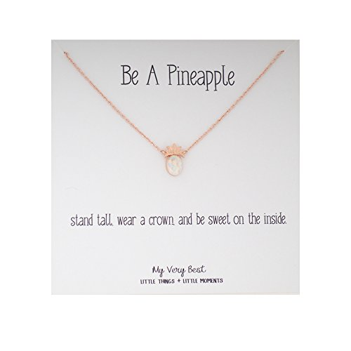 My Very Best Simulated Opal Pineapple Necklace