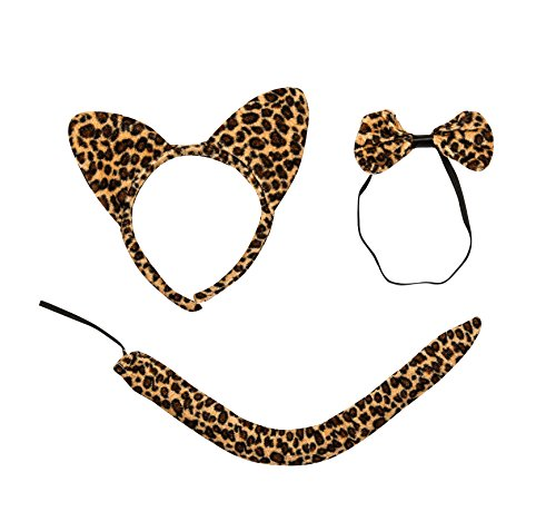 Deluxe Halloween Leopard Costume 3PC Accessory (Rich Halloween Costumes)