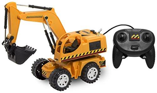 Excavator Digger (Kid Galaxy Remote Control Excavator. 6 Function Toy Tractor)