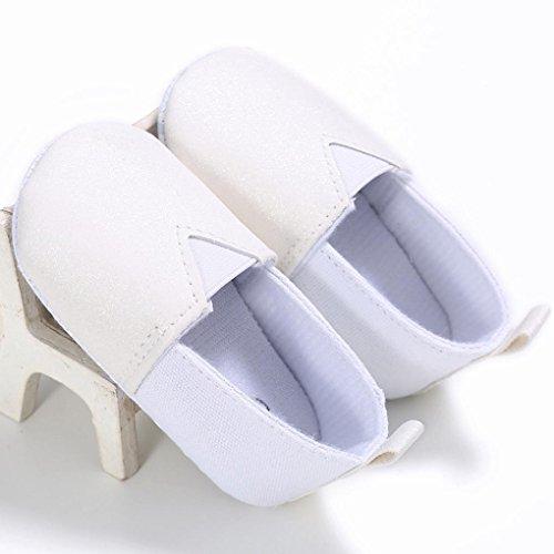 Zapatos de bebé, Switchali zapatos bebe niña verano Recién nacido Niño Cuna Suela blanda Antideslizante Zapatillas Bebé niña Flor vestir casual Blanco