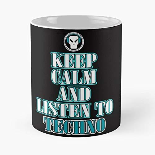 Triangle Edm Electro Headphones - Morning Coffee Mug Ceramic Novelty Holiday