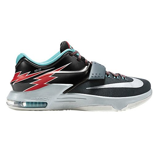 nike KD VII mens basketball trainers 653996 sneakers shoes kevin durant (uk 8.5 us 9.5 eu 43, classic charcoal dove grey university red 005)