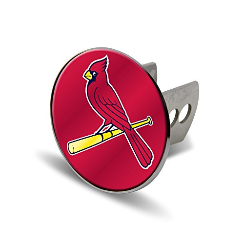 Rico MLB St. Louis Cardinals Laser Cut Metal Hitch Cover, Large, Silver