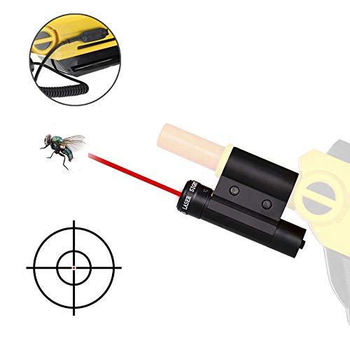 Lirisy Gun Laser Sight with Pressure Switch | Aiming Scope Fits 2.0, All Versions of Fly and Insect Eradication Shotgun | Airsoft BB Pump Spring Assault Rifles Accessories