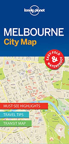 Lonely Planet Melbourne City Map (Imports Melbourne)