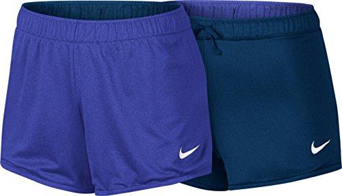 Nike Womens Dry Reversible Training Shorts Paramount Blue/Binary Blue-White 831326-452 (Medium)
