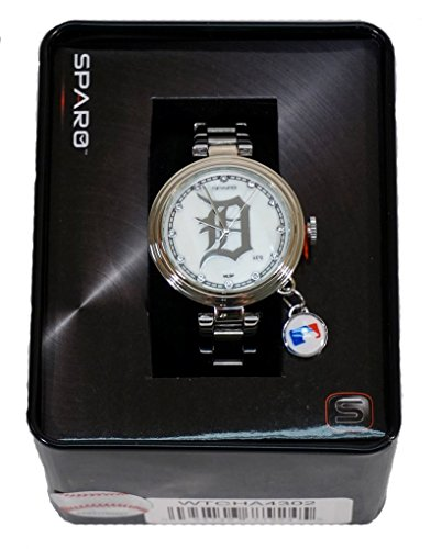 - MLB Detroit Tigers Charm Watch, Silver