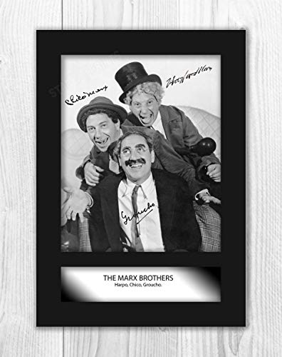 Engravia Digital The Marx Brothers Poster Signed Autograph Reproduction Photo A4 Print (Unframed)