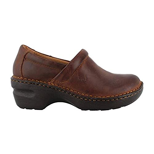 discount B.O.C. Women's, Peggy Slip On Clogs Brown Oiled 9 W get discount