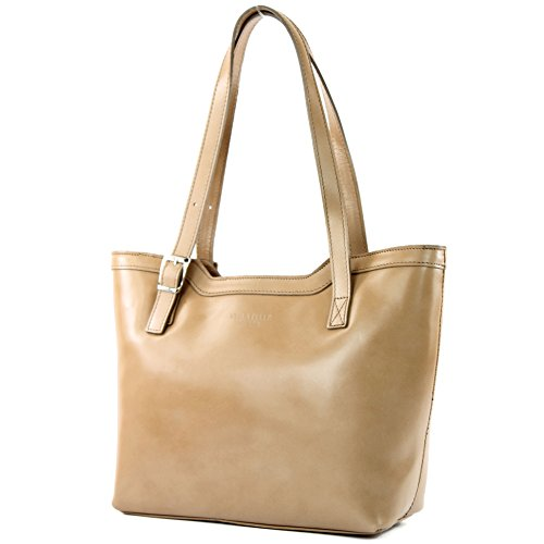 véritable sac cuir sac T25 bandoulière italien Sac sac Braunbeige main à à femme Ff10wtw8q