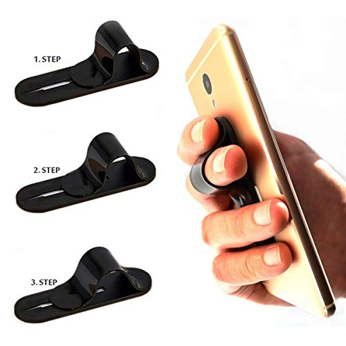 - Cell Phone Grip and Stand, AOLIY Phone Handle | Phone Strap | Finger Grip for iPhone Android Smartphones Tablets Car Vent Holder Mobile Devices (Black)