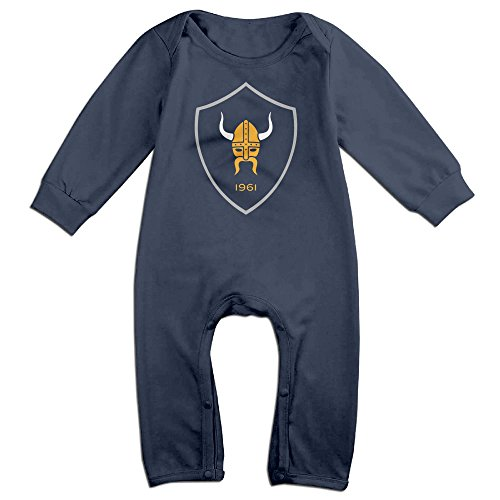 Duola Minnesotaviking For 6-24 Months Baby Funny Long Sleeved Tee Navy Size 18 Months