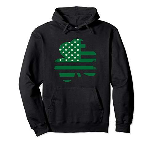 Day Hoodie - Irish American Flag Shamrock St Patricks Day Pullover Hoodie
