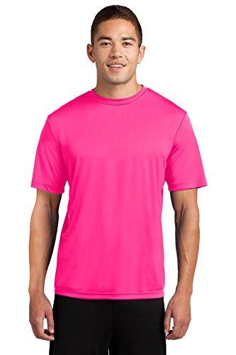 Dri-Tek Mens Big & Tall Short Sleeve Moisture Wicking Athletic T-Shirt, 2XLT, Neon - Workout Shirt Athletic