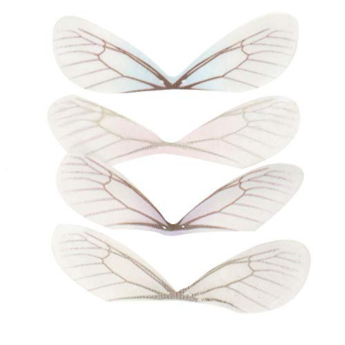 WSSROGY 24pcs Fashion Dragonfly Wings Charms for DIY Butterfly Wings Jewelry Charms Earring Findings Crafts Hair Clip Decoration