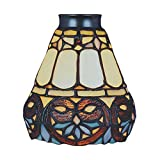 Landmark Lighting 999-21 Tiffany Single Replacement Shade from the Mix-N-Match Collection, Multi Colored Glass